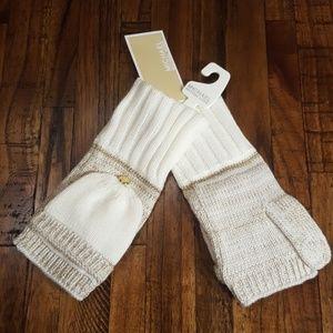 Michael Kors Fingerless Mitten Gloves NWT